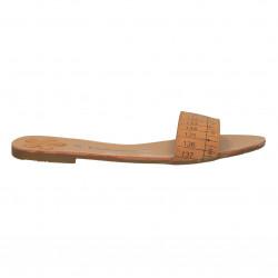 Papuci maro deschis, model centimetru