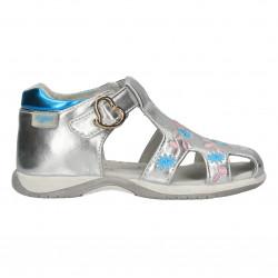 Sandalute inchise, pentru fete, culori metalice