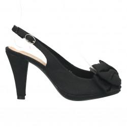 Sandale material, cu toc inalt