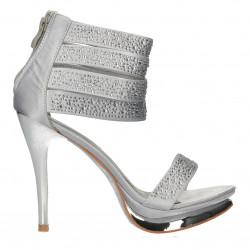 Sandale glami, argintii, cu...