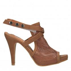 Sandale, cu plasa, maro,...