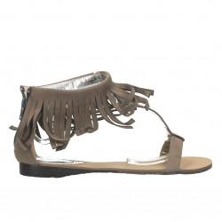 Sandale boho, cu franjuri
