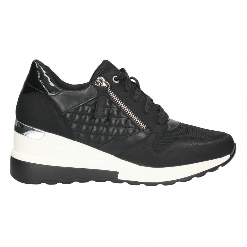Sneakers urbani, negri, pentru femei