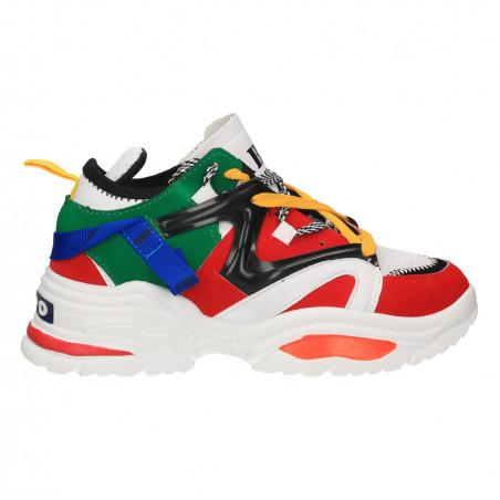 Sneakers urbani, multicolori, talpa inalta