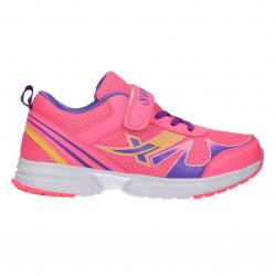 Pantofi sport, roz, cu scai, pentru fetite