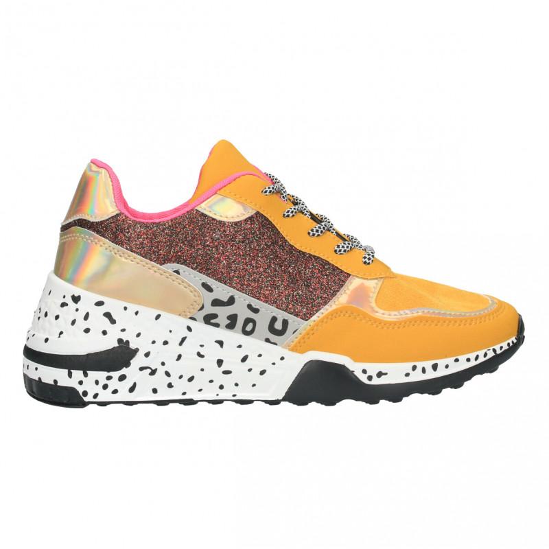 Sneakers dama, animal print, talpa inalta