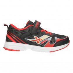Pantofi sport copii, negru cu rosu