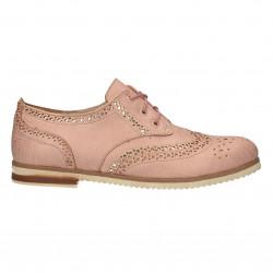 Pantofi dama, stil Oxford, roz pal