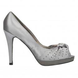 Pantofi gri, de gala, toc...