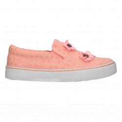 Espadrile roz, cu flori, pentru fetite
