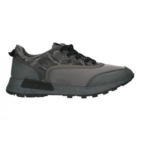 Sneakers barbati, gri, imprimeu army