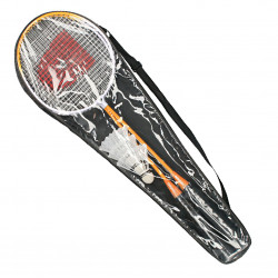 Set badminton, cu fluturi si husa