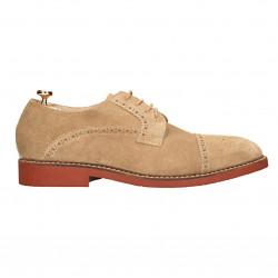 Pantofi barbatesti, piele velur, stil Oxford