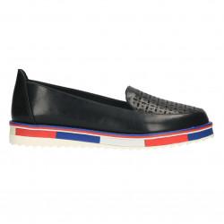 Pantofi moderni, dama, talpa alba