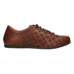 Sneakers barbati, decor logo, piele naturala