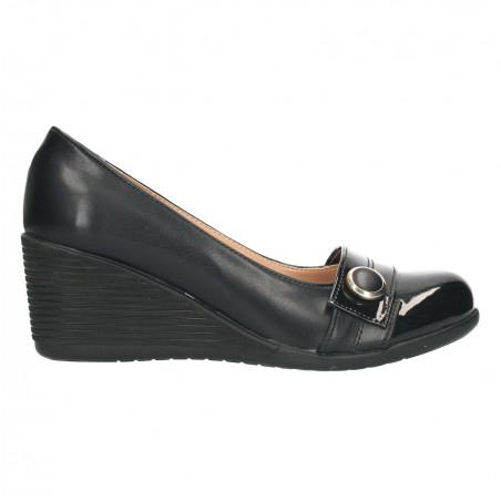 Pantofi femei, negri, talpa plina