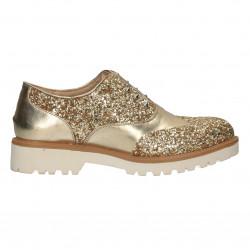Pantofi femei, glami, aurii, decor sclipici