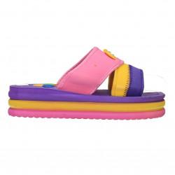 Slapi fete, din spuma, violet cu roz