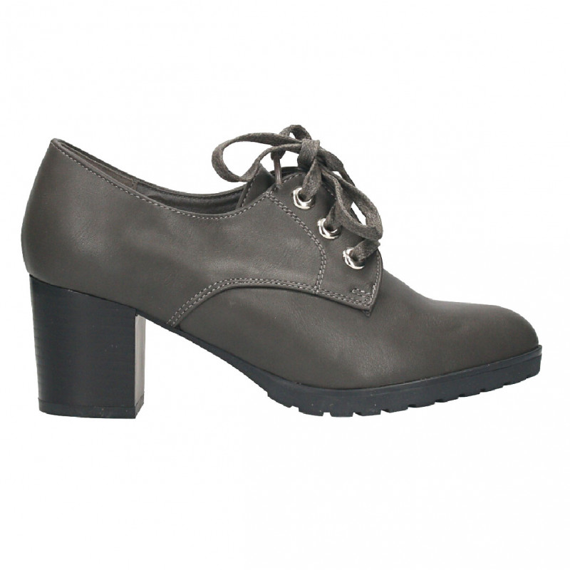 Pantofi dama, cu siret, toc mediu