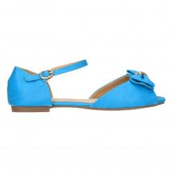 Sandale fete, cu funda, turcoaz