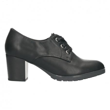 Pantofi negri, dama, cu toc mediu