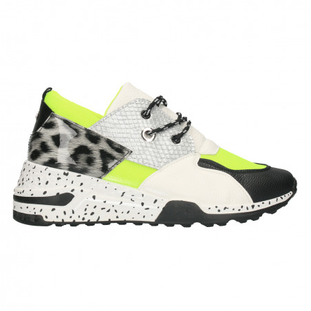 Sneakers dama, talpa groasa, animal print