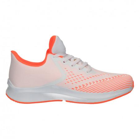 Pantofi sport, barbati, alb cu portocaliu
