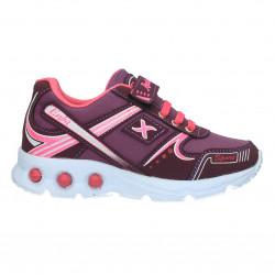 Pantofi sport, roz cu mov, pentru fetite