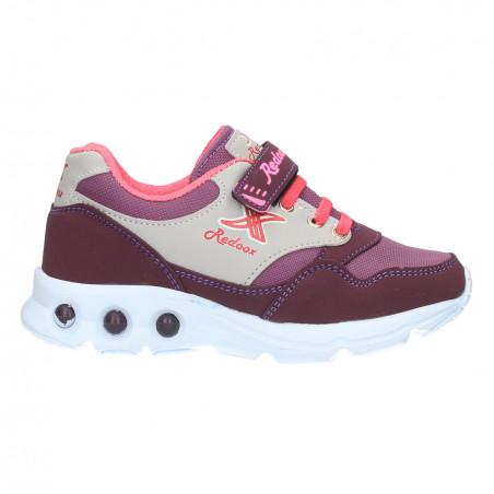 Sneakers violet, cu scai pentru fete