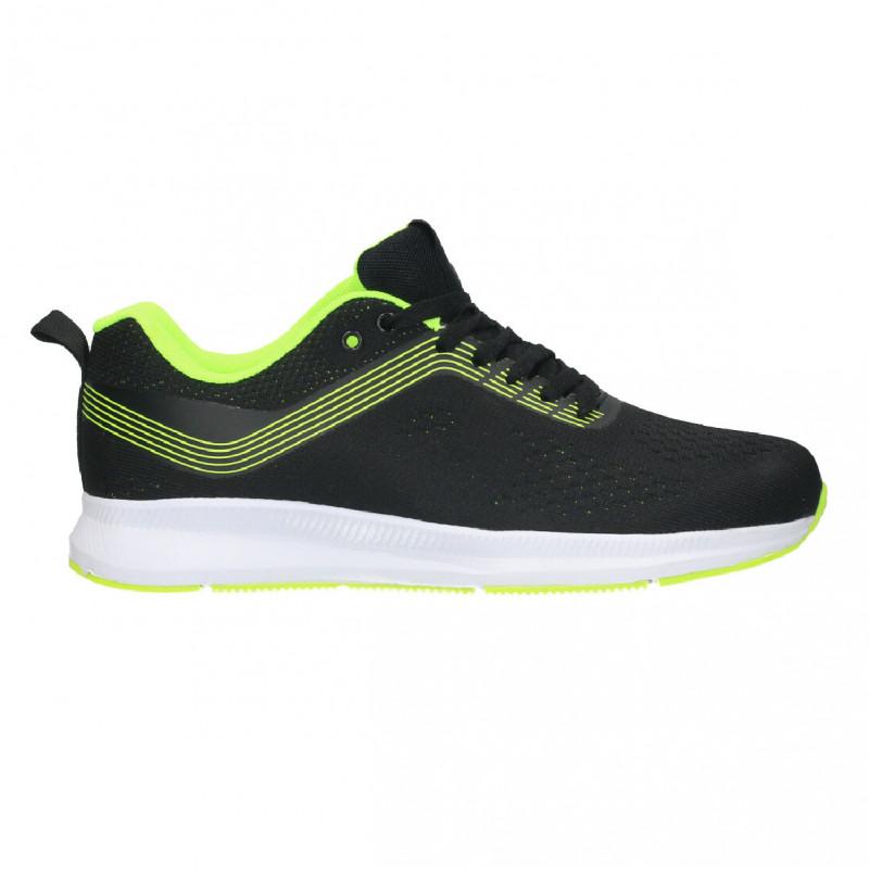 Pantofi sport negri, barbatesti, material textil