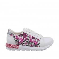 Sneakers florali, cu talpa moderna