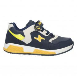 Sneakers copii, culori bleumarin cu galben