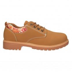 Pantofi trappers, cu flori, pentru fete