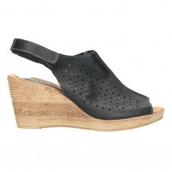 Sandale piele comode, platforma inalta