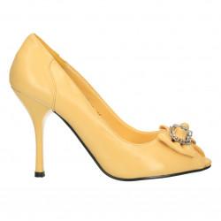 Pantofi galbeni, de gala, pentru femei