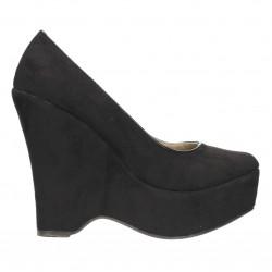 Pantofi negri, platforma inalta