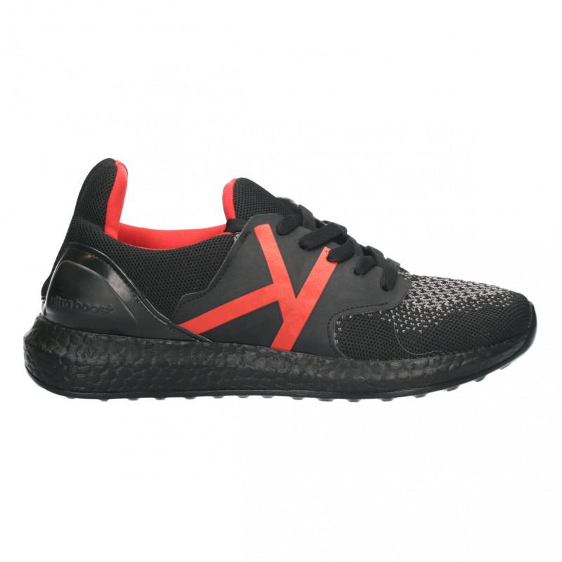 Pantofi sport,  barbatesti, negru cu rosu