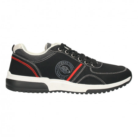 Sneakers negri, stil sport, pentru barbati
