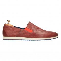Pantofi barbati, slip on, piele naturala