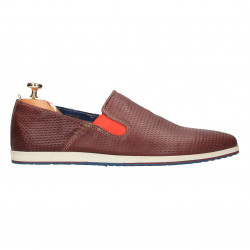 Pantofi barbati, cu perforatii, piele naturala