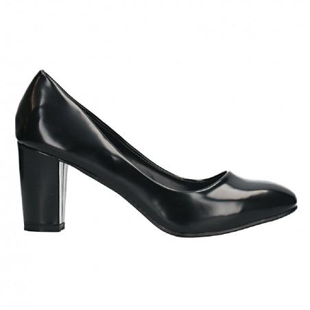 Pantofi office, piele sintetica lacuita