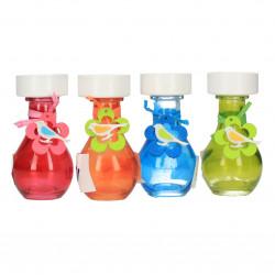 Suport candelă, formă de sticluță, diverse culori
