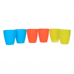 Set pahare colorate, 6 piese