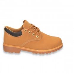 Pantofi barbati, model clasic, galbeni, din piele eco
