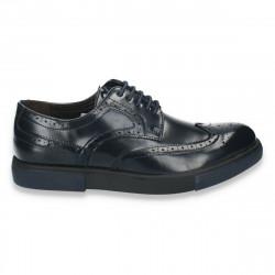 Pantofi casual, stil Oxford, bleumarin, pentru barbati