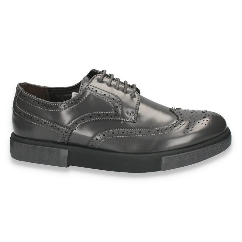 Pantofi casual, stil Oxford, gri, pentru barbati