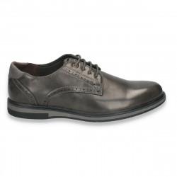 Pantofi casual, cu elemente stil Oxford, pentru barbati, gri