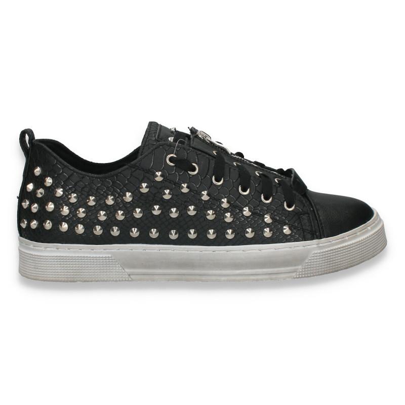 Pantofi barbati, stil gothic, cu imprimeu croco si tinte metalice