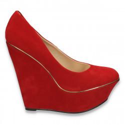 Pantofi glami dama, cu platforma foarte inalta, rosii - LS6