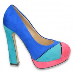 Pantofi dama glami, imitatie velur, colorati - LS9